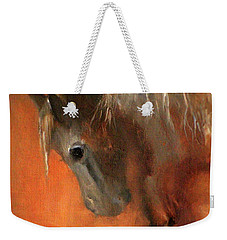 Weekender Tote Bag featuring the painting Brigit by Barbie Batson