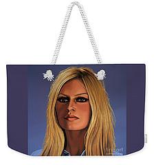 Brigitte Bardot 3 Weekender Tote Bag by Paul Meijering