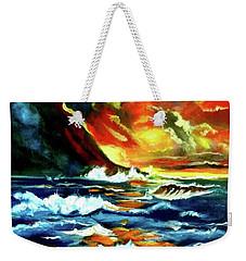 Brilliant Hawaiian Sunset Weekender Tote Bag by Jenny Lee
