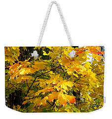 Weekender Tote Bag featuring the photograph Brilliant Maple Leaves by Will Borden