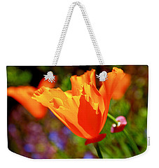Weekender Tote Bag featuring the photograph Brilliant Spring Poppies by Rona Black