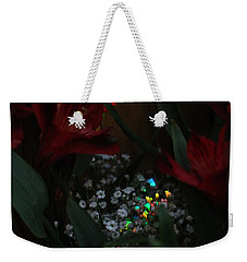 Weekender Tote Bag featuring the photograph Brilliantly Shy by Marie Neder
