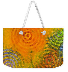 Weekender Tote Bag featuring the painting Bring Down Colored Rain by Cliff Spohn
