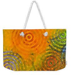 Bring Down Colored Rain Weekender Tote Bag