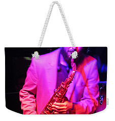 Weekender Tote Bag featuring the photograph Bring Them .blues by Aaron Martens