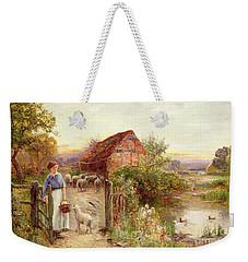 Bringing Home The Sheep Weekender Tote Bag by Ernest Walbourn