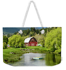 Brinnon Washington Barn By Pond Weekender Tote Bag by Teri Virbickis