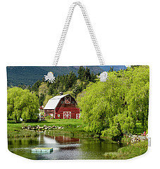 Brinnon Washington Barn Weekender Tote Bag by Teri Virbickis