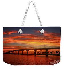 Bridge Sunrise Weekender Tote Bag by Tom Claud