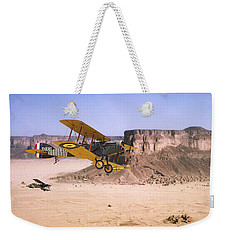 Weekender Tote Bag featuring the photograph Bristol Fighter - Aden Protectorate  by Pat Speirs