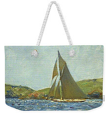 Weekender Tote Bag featuring the painting Britannia by Henry Scott Tuke