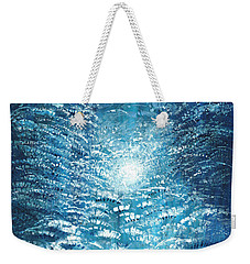 Weekender Tote Bag featuring the painting Brite Nite by Holly Carmichael