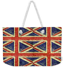 British Flag Collage One Weekender Tote Bag by Michelle Calkins