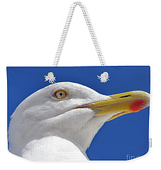 Weekender Tote Bag featuring the photograph British Herring Gull by Terri Waters