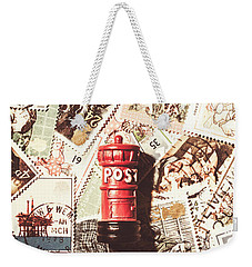 Weekender Tote Bag featuring the photograph British Post Box by Jorgo Photography - Wall Art Gallery