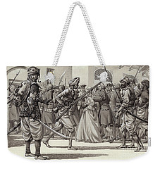 British Soldiers Are Forced Into The Black Hole Of Calcutta Weekender Tote Bag