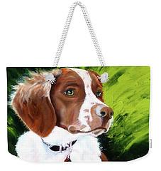 Brittany Spaniel Weekender Tote Bag