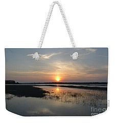 Weekender Tote Bag featuring the photograph Broad Creek Sunset by Carol  Bradley