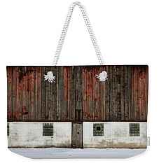 Weekender Tote Bag featuring the photograph Broad Side Of A Barn by Julie Hamilton