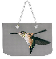 Broad-tailed Hummingbird Approaching Feeder Weekender Tote Bag