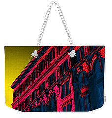 Broadway 118 In Fuschia Weekender Tote Bag by Edgar Farrera