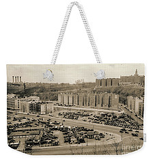 Weekender Tote Bag featuring the photograph Broadway And Nagle Ave 1936 by Cole Thompson