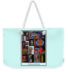 Broadway, Nashville - Collage # 2 Weekender Tote Bag
