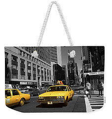 New York Broadway - Yellow Taxi Cabs Weekender Tote Bag