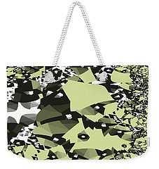 Weekender Tote Bag featuring the digital art Broken Abstract by Jessica Wright