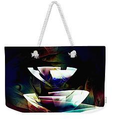 Weekender Tote Bag featuring the digital art Broken Glass by Anastasiya Malakhova