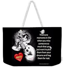 Weekender Tote Bag featuring the digital art Broken Heart by Kathy Tarochione