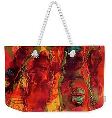 Broken Mask Encaustic Weekender Tote Bag
