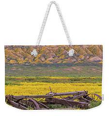 Broken Wagon In A Field Of Flowers Weekender Tote Bag