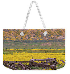 Broken Wagon In A Field Of Flowers Weekender Tote Bag