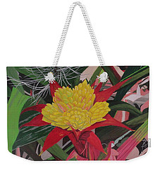 Bromelaid And Airplant Weekender Tote Bag by Hilda and Jose Garrancho