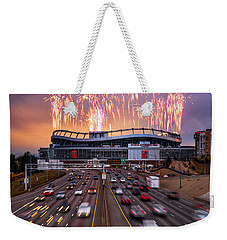 Broncos Win Afc Championship Game 2016 Weekender Tote Bag
