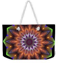Bronze Gilded Flower, Art Deco Weekender Tote Bag