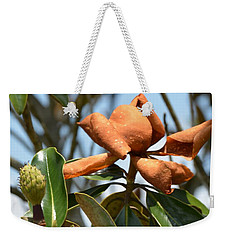 Weekender Tote Bag featuring the photograph Bronzed By The Sun by Maria Urso