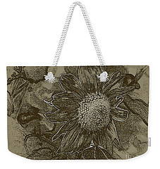 Bronzed Out Sunflower Weekender Tote Bag