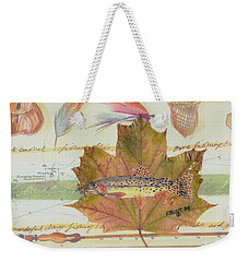 Brook Trout On Fly #2 Weekender Tote Bag by Ralph Root