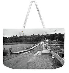 Weekender Tote Bag featuring the photograph Brookfield, Vt - Floating Bridge 5 Bw by Frank Romeo