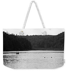 Weekender Tote Bag featuring the photograph Brookfield, Vt - Swimming Hole 2006 Bw by Frank Romeo
