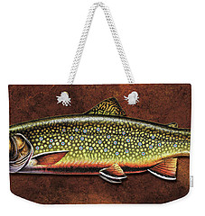 Weekender Tote Bag featuring the painting Brookie Dream by Jon Q Wright