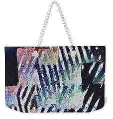 Weekender Tote Bag featuring the painting Brooklyn Boxes by Joan Reese