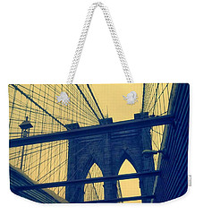 New York City's Famous Brooklyn Bridge Weekender Tote Bag
