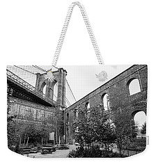 Brooklyn Bridge And Garden Weekender Tote Bag