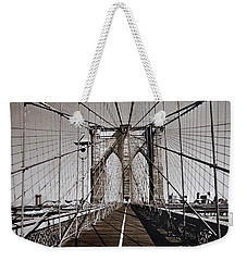 Brooklyn Bridge By Art Farrar Photographs, Ny 1930 Weekender Tote Bag