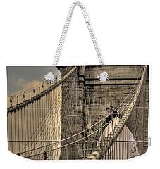 Brooklyn Bridge Weekender Tote Bag by David Bearden