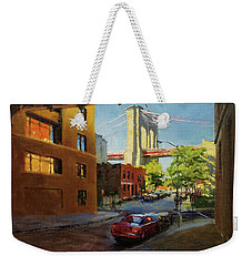 Brooklyn Bridge From Everit Street Weekender Tote Bag