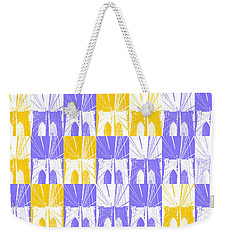 Brooklyn Bridge In Purple And Gold Weekender Tote Bag by Marianne Campolongo